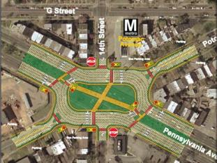 Proposed changes to Penn-Potomac intersection from 2005 Middle Anacostia River Crossings Study.
