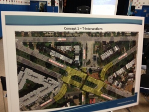 Concept 1 would create T-intersections at Penn and Potomac Aves. and 14th St. SE