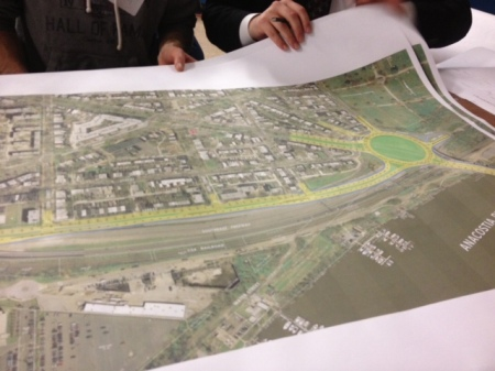 One option under consideration would completely integrate L Street SE and the new SE Blvd.