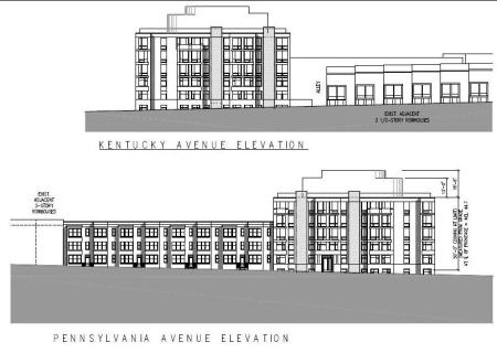 Initial design of proposed residential building courtesy of Eric Colbert & Associates.